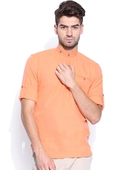 Locomotive Men Orange Slim Fit Casual Shirt