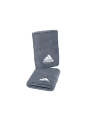 Adidas Unisex Set of 2 Grey Wristbands S22012