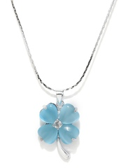 Pretty Women Blue & Steel-Toned Pendant with Chain