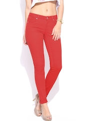 Vero Moda Women Red Super Skinny Fit Jeans