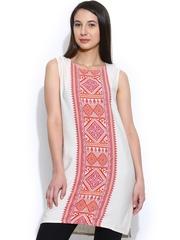 Global Desi Women Off-White Printed Tunic