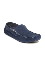 Red Tape Men Blue Suede Loafers