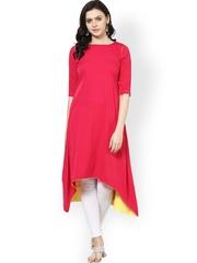 Abhishti Women Pink Kurta