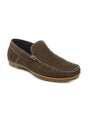 Ruosh Casual Men Brown Leather Driving Shoes