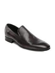 Ruosh Wedding Men Grey Leather Shoes