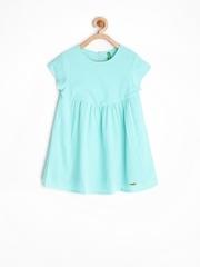 United Colors of Benetton Girls Sea Green Shift Dress