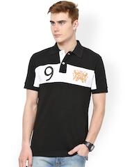 Monteil & Munero Men Black & White Polo T-shirt