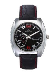 Roycee Men Black Dial Watch 1334-SL03