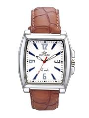 Roycee Men White Dial Watch 1342-SL01