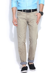 Sisley Men Beige Stockholm Slim Fit Jeans