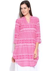 BIBA Women Pink Printed Kurta