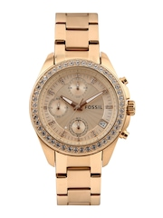 Fossil Women Rose Gold-Toned Dial Watch ES3352I