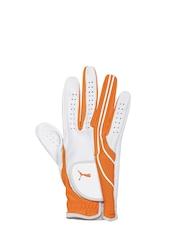 PUMA Men White & Orange Form Stripe Perform Vibrant RH Glove