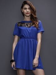 Girls On Film Blue Fit & Flare Dress