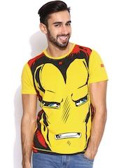 Kook N Keech Marvel Yellow Iron Man T-shirt