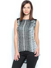 AND by Anita Dongre Women Grey & Black Printed Top