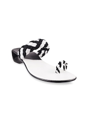 Mochi Women Black & White Heels
