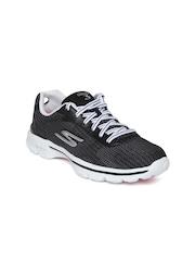 Skechers Women Charcoal Grey Go 3-Fitknit Walking Shoes