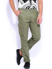 U.S. Polo Assn. Olive Green Slim Fit Cargo Trousers
