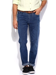 U.S. Polo Assn. Blue Delta Slim Tapered Fit Corduroy Trousers