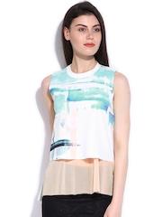 Elle Women White Printed Top