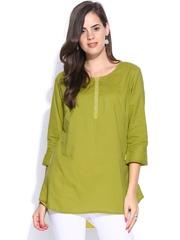 Fabindia Women Green Kurti
