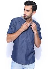 GUESS Blue Denim Casual Shirt