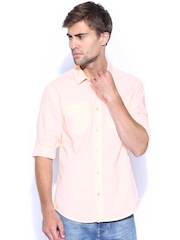 GUESS Peach-Coloured Casual Shirt