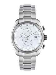 Citizen Men White Dial Eco-Drive Chronograph Watch CA0021-53A