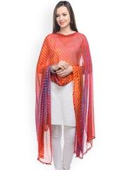 Ruhaans Women Multicoloured Laheriya Dupatta