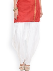 Ruhaans Women White Patiala