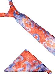 Alvaro Castagnino Men Orange & Purple Printed Accessory Gift Set