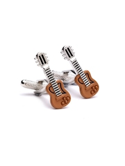 Alvaro Castagnino Brown & Steel-Toned Cufflinks