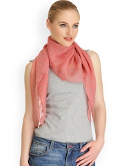 CoolThreads Women Coral Pink Printed Scarf