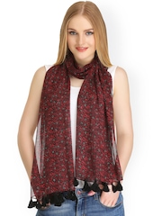 CoolThreads Red Printed Stole