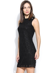 Wills Lifestyle Black Lace Shift Dress