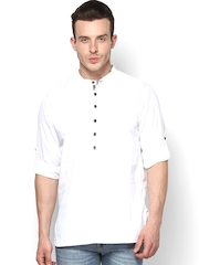 even Men White Short Kurta