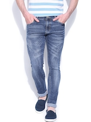 John Players Blue Low-Rise Super Skinny Jeans