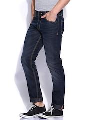 John-Players-Blue-Low-Rise-Slim-Jeans
