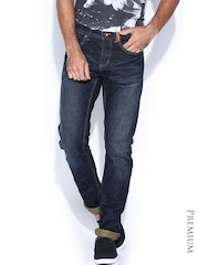 Superdry Navy Relaxed Tapered Washed Jeans