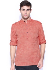 Svanik Red Short Kurta