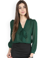 La Zoire Women Green Sheer Top