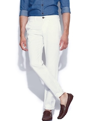 Indian Terrain White Brooklyn Slim Trousers