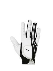 PUMA Men Grey & Black Printed Cabretta Premium Leather Right Single Glove