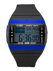 FLUID Unisex Black Digital Watch DMF-001-BL01