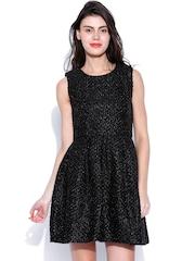 SALT Black Fit & Flare Dress