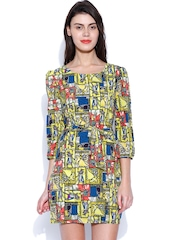 SALT Multicoloured Printed Belted Dress