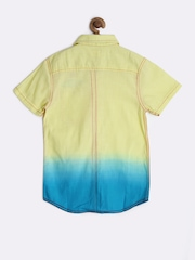 UFO Boys Light Yellow & Blue Ombre-Dyed Shirt