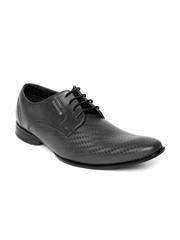 Provogue Men Black Leather Semiformal Shoes