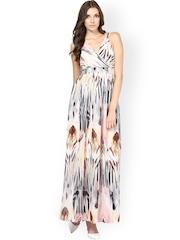Harpa Cream-Coloured Printed Maxi Dress